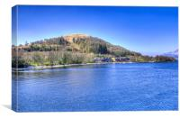 Lodges at Luss Loch Lomond, Canvas Print