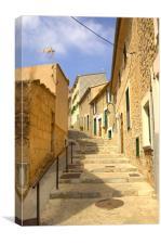 Spanish Steps Port de Soller, Canvas Print