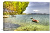 Boats at the Pine Walk Puerto Pollensa, Canvas Print