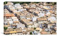 Pollensa Rooftops Mallorca, Canvas Print
