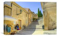 Pollensa Mallorca, Calvari Steps, Canvas Print