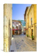 Pollensa Mallorca Street Scene, Canvas Print