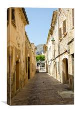 Quiet Pollensa Street Mallorca, Canvas Print