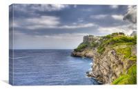 Cliffs Behind Port De Soller, Canvas Print