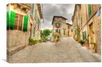 Quiet Valldemossa Street Mallorca, Canvas Print