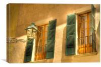 Mallorca  Windows, Canvas Print