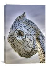 The Kelpies From Beneath., Canvas Print