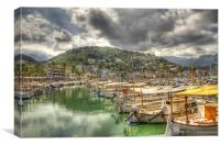 Harbour, Port De Soller, Canvas Print