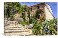 Calvari Steps, Pollensa, Mallorca, Canvas Print