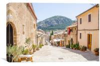 Calvari, Pollensa Town Mallorca, Canvas Print