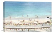 Puerto Del Carmen Padlocks of Love, Canvas Print