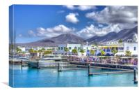 Marina Rubicon Market Playa Blanca, Canvas Print