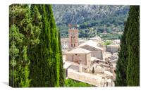 Pollensa Town Through The Trees, Canvas Print