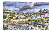 Torquay Harbour, Canvas Print