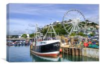 Torquay Fishing Boat, Canvas Print