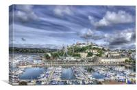 Torquay Harbour and Marina, Canvas Print