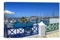 Rubicon Marina Playa Blanca, Canvas Print