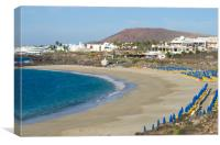 Dorada Beach Playa Blanca, Canvas Print