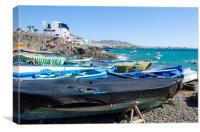 Playa Blanca Boats, Canvas Print