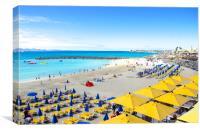 Playa Dorada Beach in Playa Blanca Lanzarote, Canvas Print