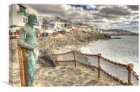 Playa Blanca Sea front, Canvas Print