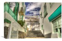 Playa Blanca Steps To Town, Canvas Print