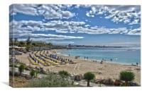 Playa Dorada Playa Blanca, Canvas Print