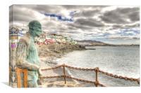 Playa Blanca Seafront, Canvas Print