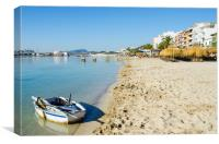 Beach At Puerto Pollensa, Canvas Print