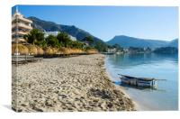 Boat On Puerto Pollensa Beach, Canvas Print