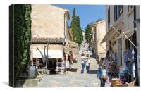 Meeting On Calvari Steps Pollenca, Canvas Print