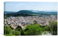 Pollensa Town Mallorca, Canvas Print