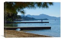 Puerto Pollensa In The Morning, Canvas Print