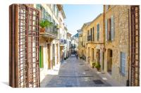Pollensa Street Mallorca, Canvas Print