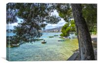 Boats At Pine Walk Puerto Pollensa, Canvas Print