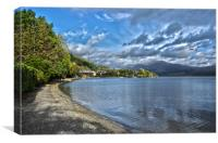 Lodge On Loch Lomond, Canvas Print