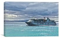 Playa Blanca To Corralejo Ferry, Canvas Print
