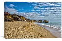 Praia Dos Tres Castelos Portimao, Canvas Print
