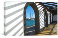Arches At Marina Rubicon Playa Blanca, Canvas Print