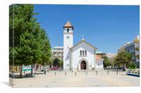Church In Armacao De Pera, Algarve, Canvas Print