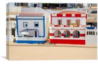 Beach Houses of Carvoeiro, Canvas Print