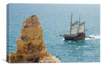 Pirate Ship Carvoeiro, Canvas Print