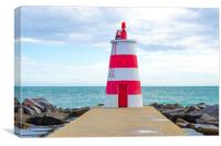 Lighthouse At Praia Da Rocha, Portimao, Canvas Print