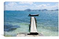 Walk The Plank Puerto Pollensa, Canvas Print