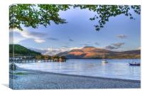 Loch Lomond at Luss From The Beach, Canvas Print