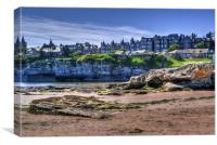 The Scores, St Andrews, Fife- A Street on a Cliff., Canvas Print