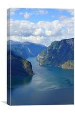 Blue Fjord, Canvas Print