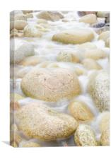 The water of Cot Valley, Canvas Print