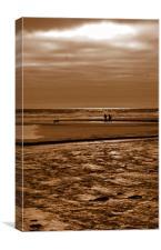 Sepia Stroll, Canvas Print
