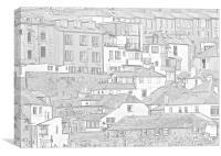 St Ives Sketchbook, Canvas Print